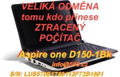ztracenyPocitac-Aspire-one-D150-1Bk-SerialNumber-LUS570B1789113F72B1601